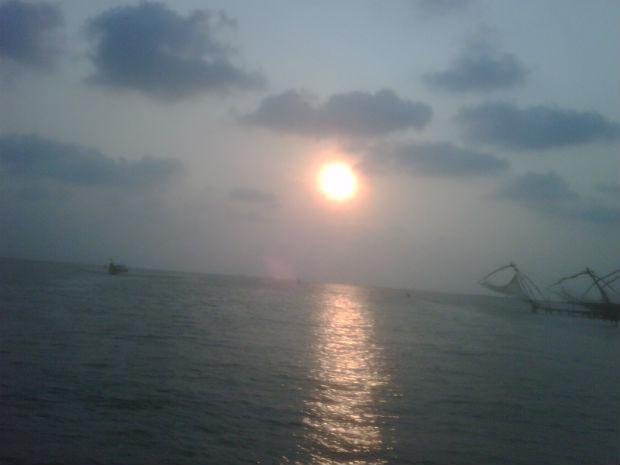 Sunset at Cochin Bay, Kerela, India
